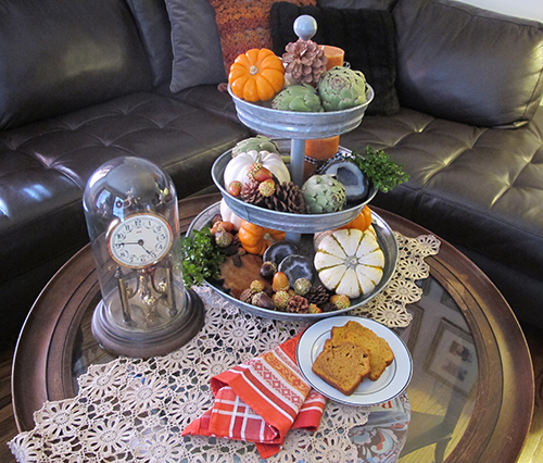 fall coffee table in living room